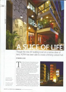 AF Ahmedabad, article Architecture & Interiors India, December 13-2