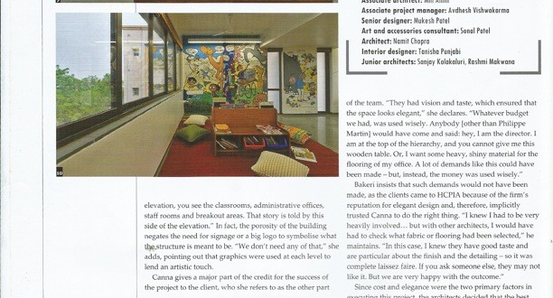 AF Ahmedabad, article Architecture & Interiors India, December 13-5