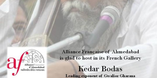 Alliance Francaise of Ahmedabad hosts Kedar Bodas for a Khayal Gayaki concert