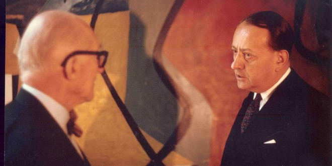 Ahmedabad conference : Malraux and LeCorbusier