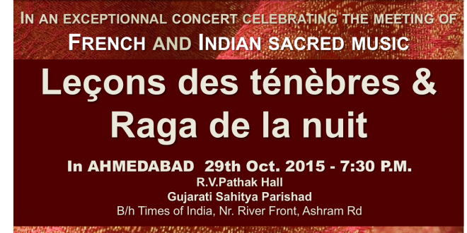 Ahmedabad concert : western and indian classical music !