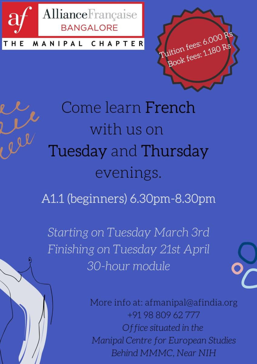 French Classes for Beginners A1.1 March 2020