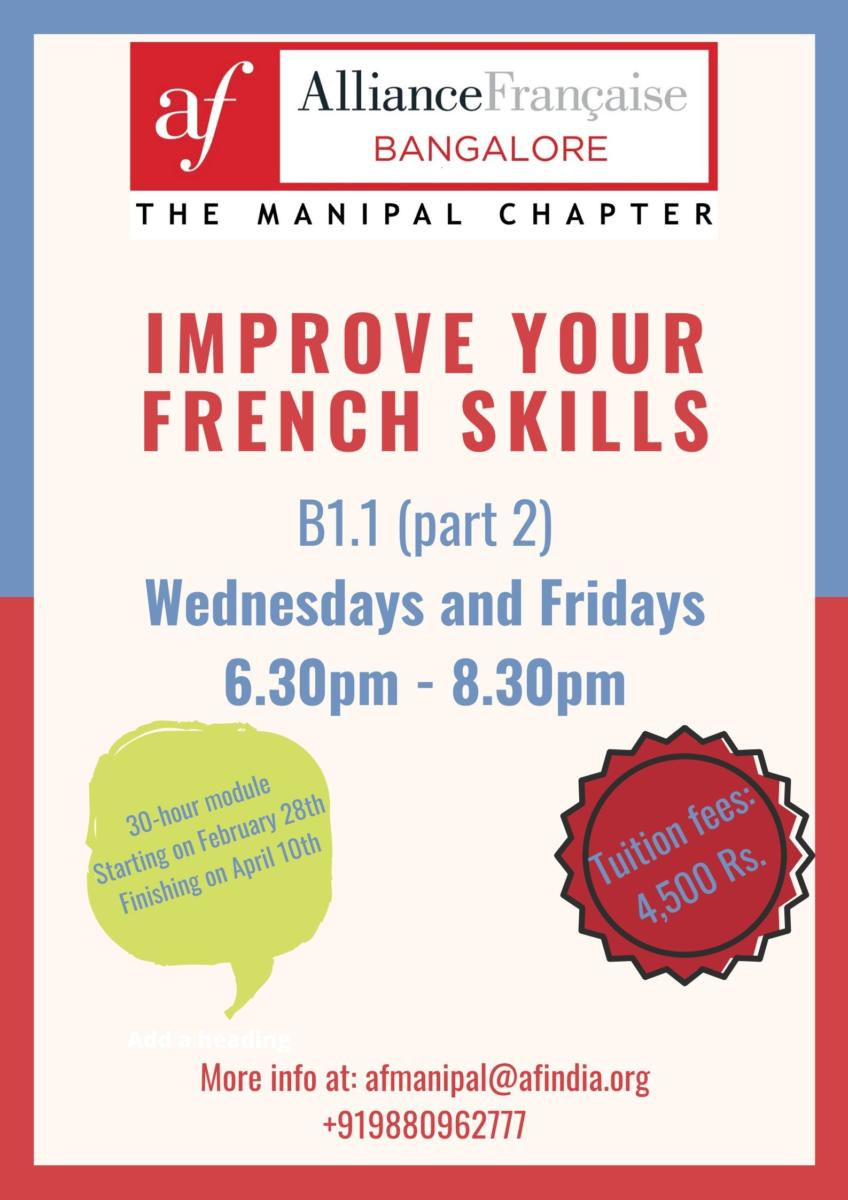 French Classes for Intermediate learners B1.1 Part 2