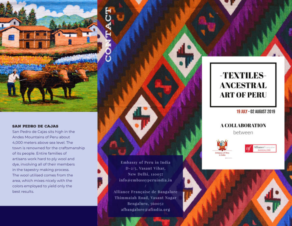 Peruvian Textile Exhibition | 19th July - 2nd August