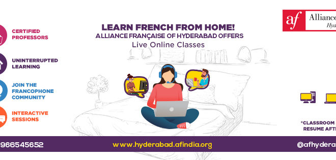 Learn French from Home during Lockdown   l    for more details, mail to     info@afhyderabad.org