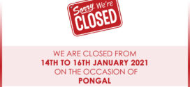 AFM closed for holidays – 14th Jan. 2021 – 16th Jan. 2021