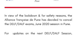 CANCELLATION OF DELF/DALF EXAMS JUNE 2020 SESSION